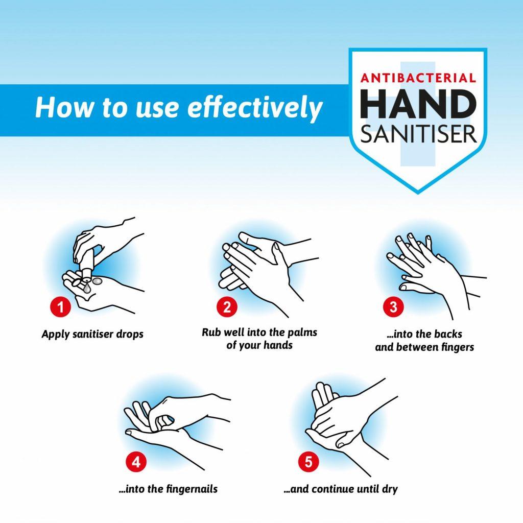 Antibacterial & Antiviral Handwash how to hand wash